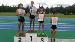 陸上競技部員が長野県新記録樹立