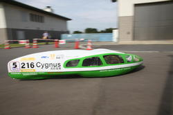 自作エコカー部門で優勝した「長野高専 Cygnus」