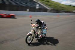 部内新記録で二輪車クラスの9位になったスーパーヨシザワサン