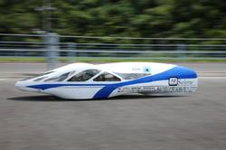 2040.22km/lの燃費を記録した「長野高専 Selene」。