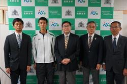 高橋一輝君(機械工学科4年)陸上競技で2018日韓交流事業に参加