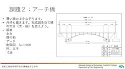 課題2:アーチ橋