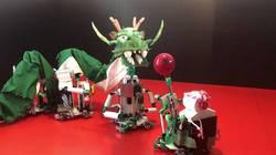 全国大会出場を決めたDチーム「どんちゃか龍舞」ロボット